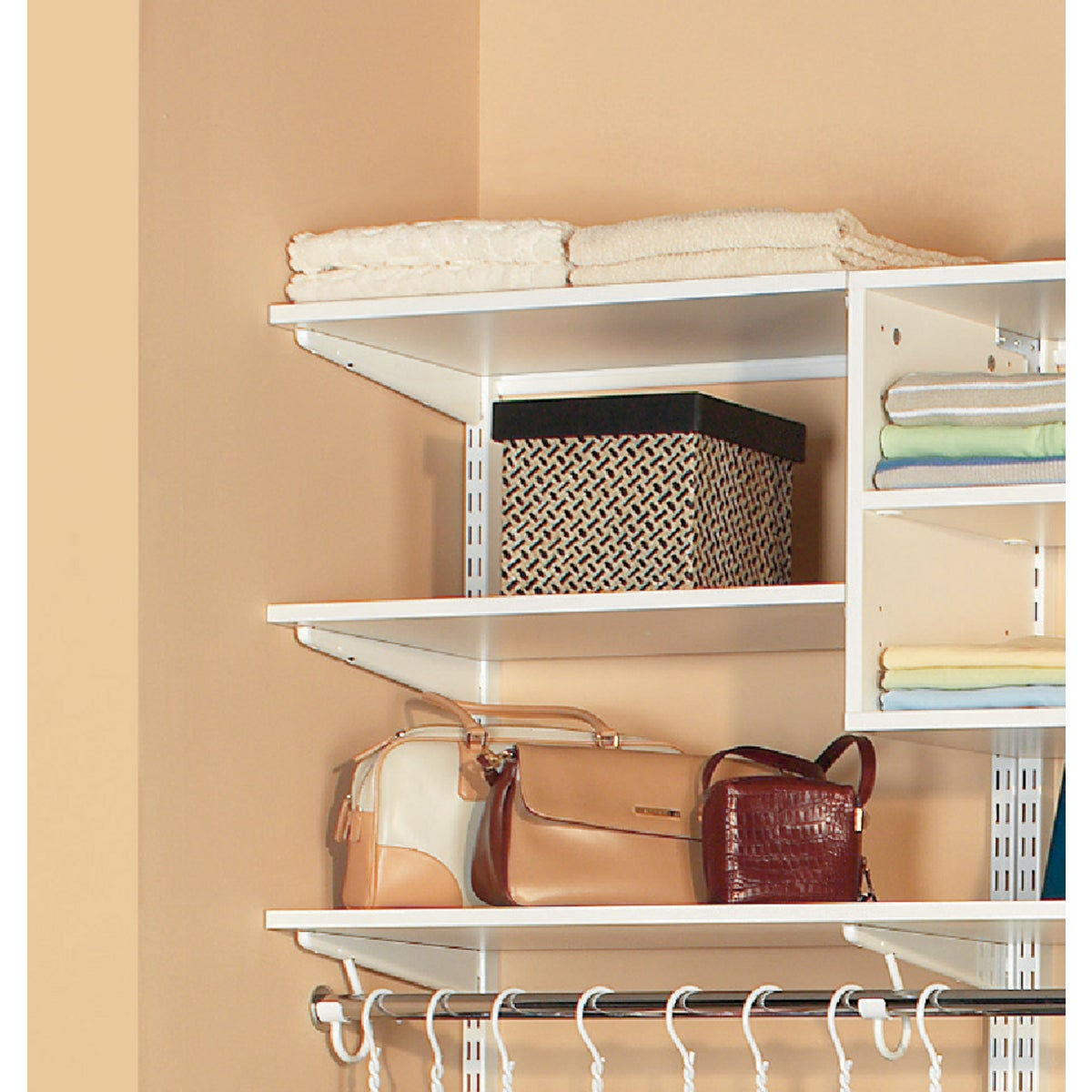 6' WHITE MELAMINE SHELF