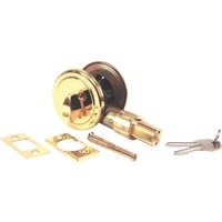 United States Hdwe. BRASS DEADBOLT D-083B