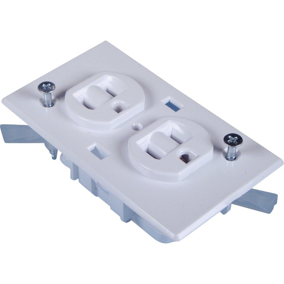 WHT DPLX RECEPTACLE - E-162C by U S Hardware