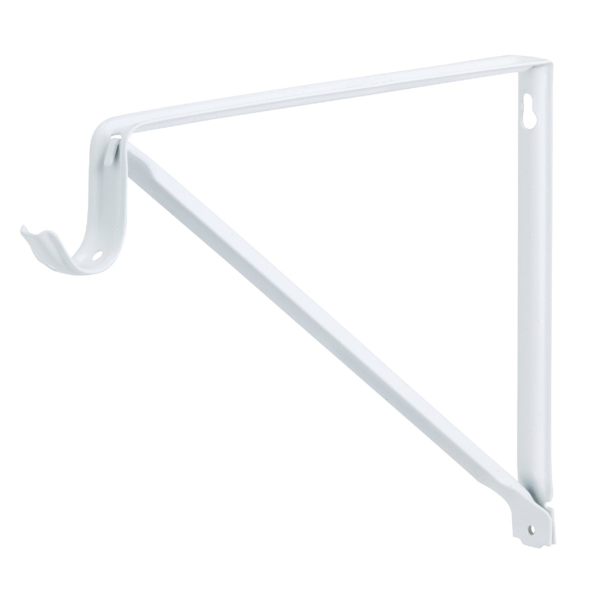 WHITE SHELF/ROD BRACKET - RP-0044-BWT by Knape & Vogt Mfg Co