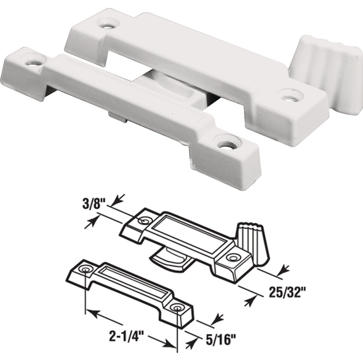 Slim Line Window Sash Lock