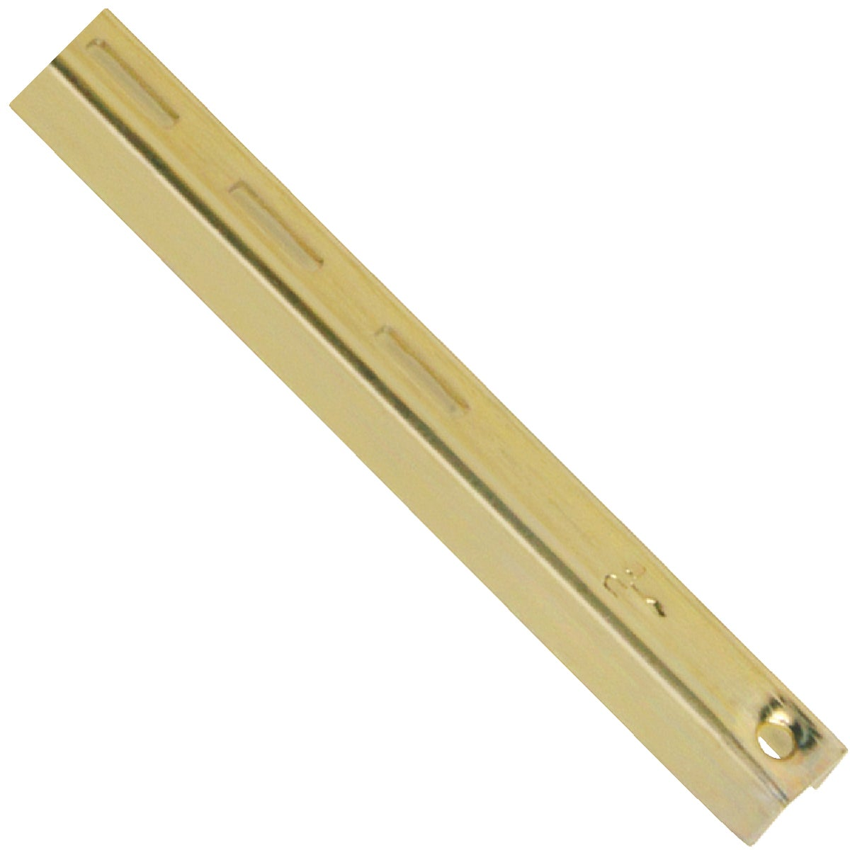"24"" BRASS SHELF STANDARD - 80BR-24 by Knape & Vogt Mfg Co"