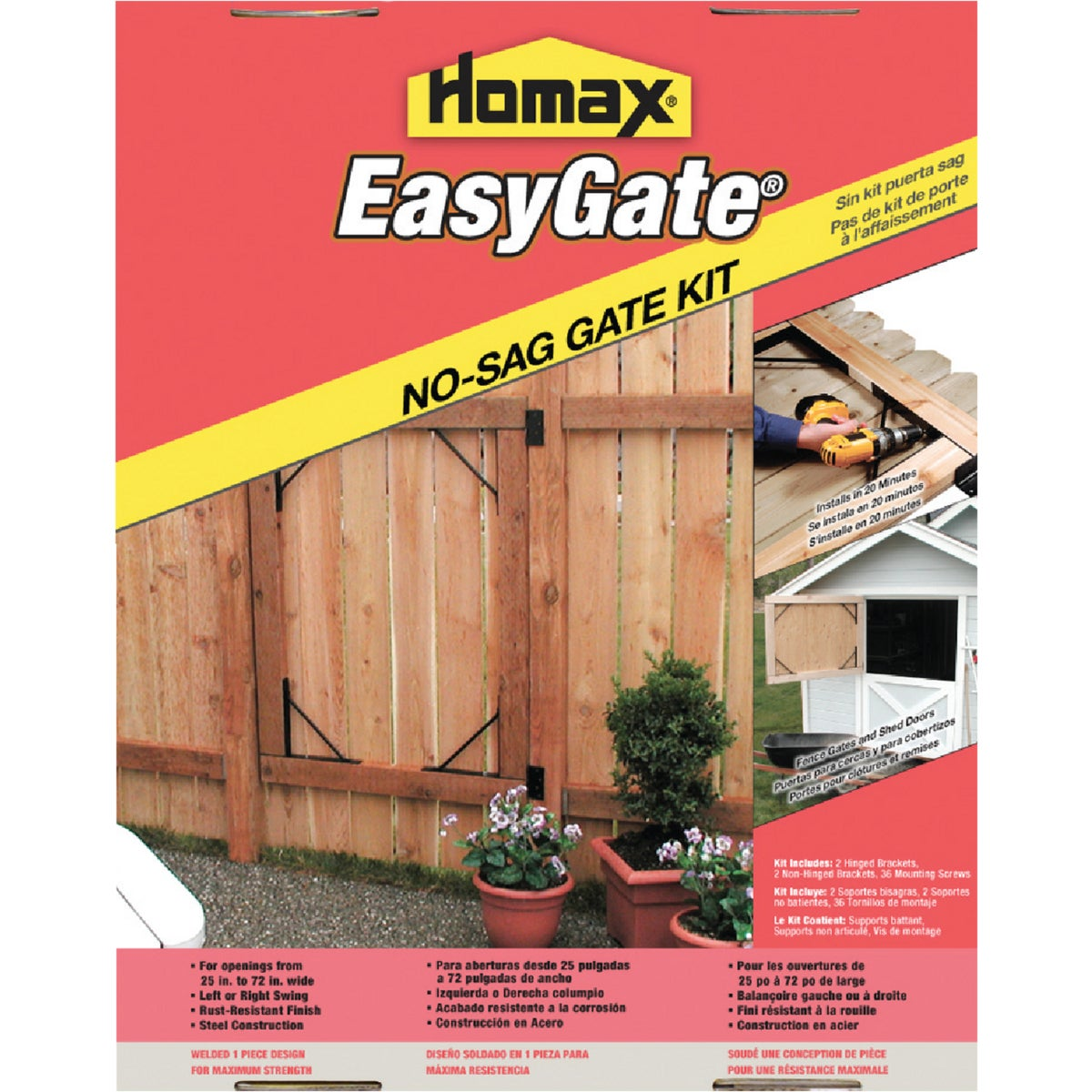 EASYGATE NO SAG BRACKET - 80099 by Homax Group Inc