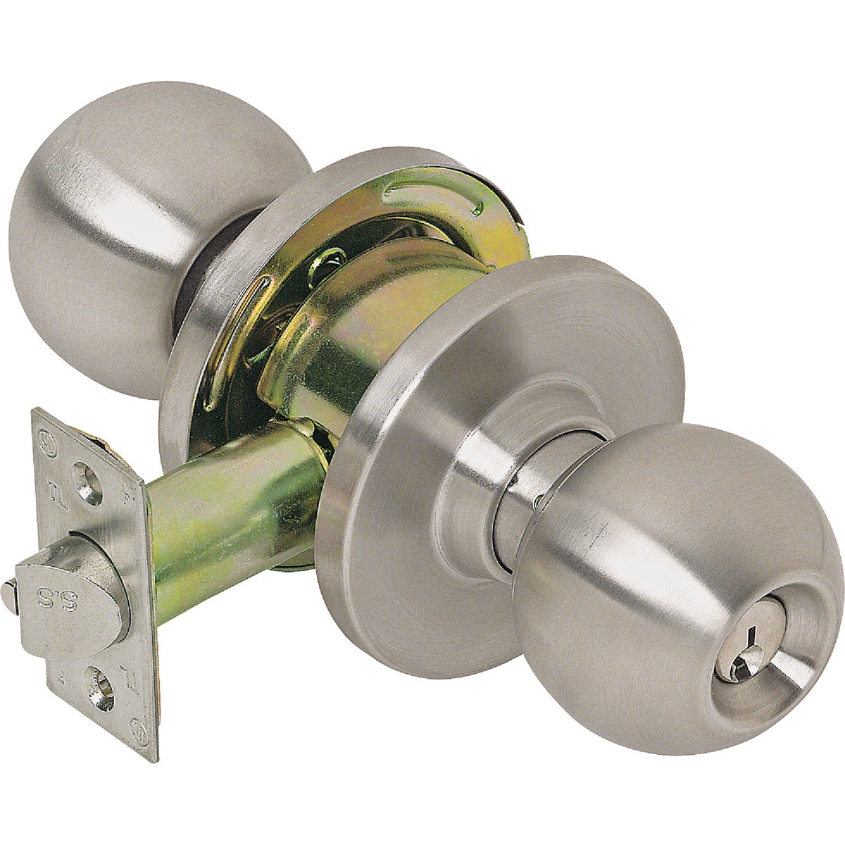Tell Manufacturing CL100006 Storeroom Lockset, Satin Stainless Steel