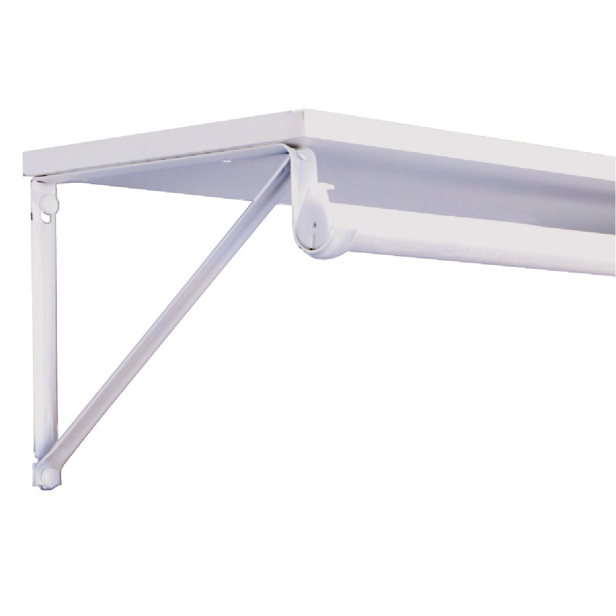 WHITE SHELF/ROD BRACKET - RP-0045-WT by Knape & Vogt Mfg Co