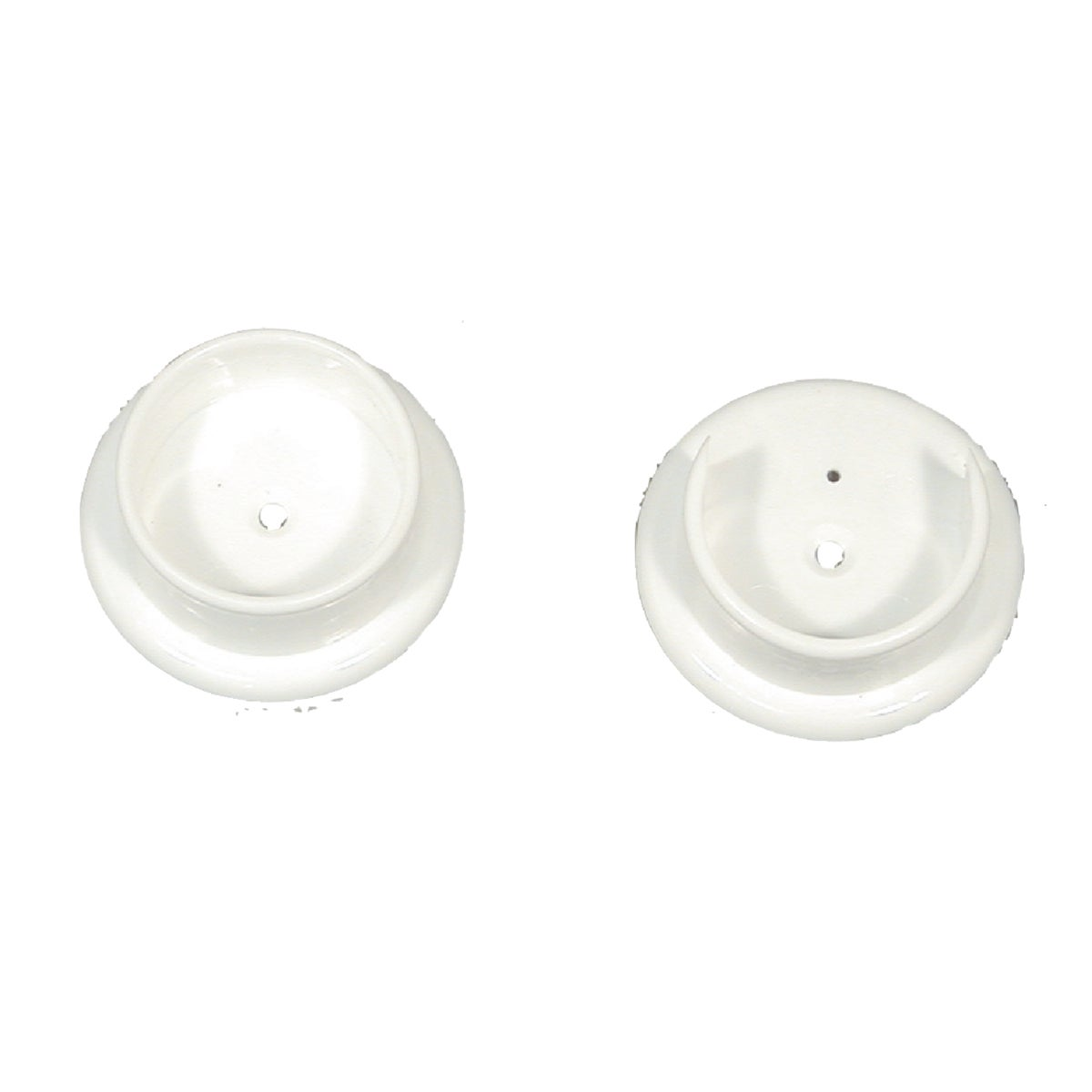 2PK WHT POLE SOCKET