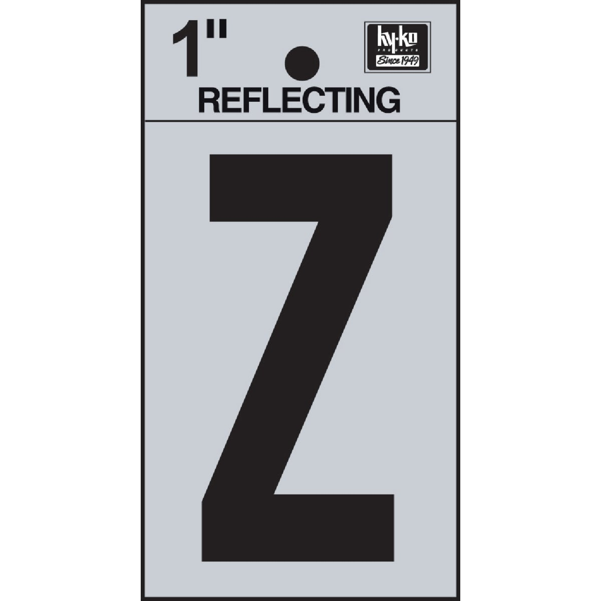"1"" REFLECT LETTER Z - RV15-Z by Hy Ko Prods Co"