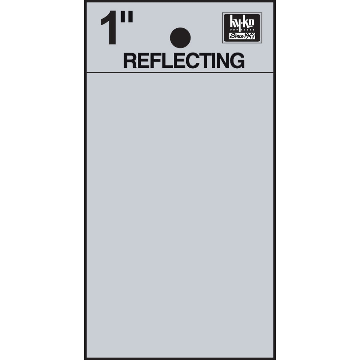 "1"" REFLECT BLANK - RV15-BLANK by Hy Ko Prods Co"