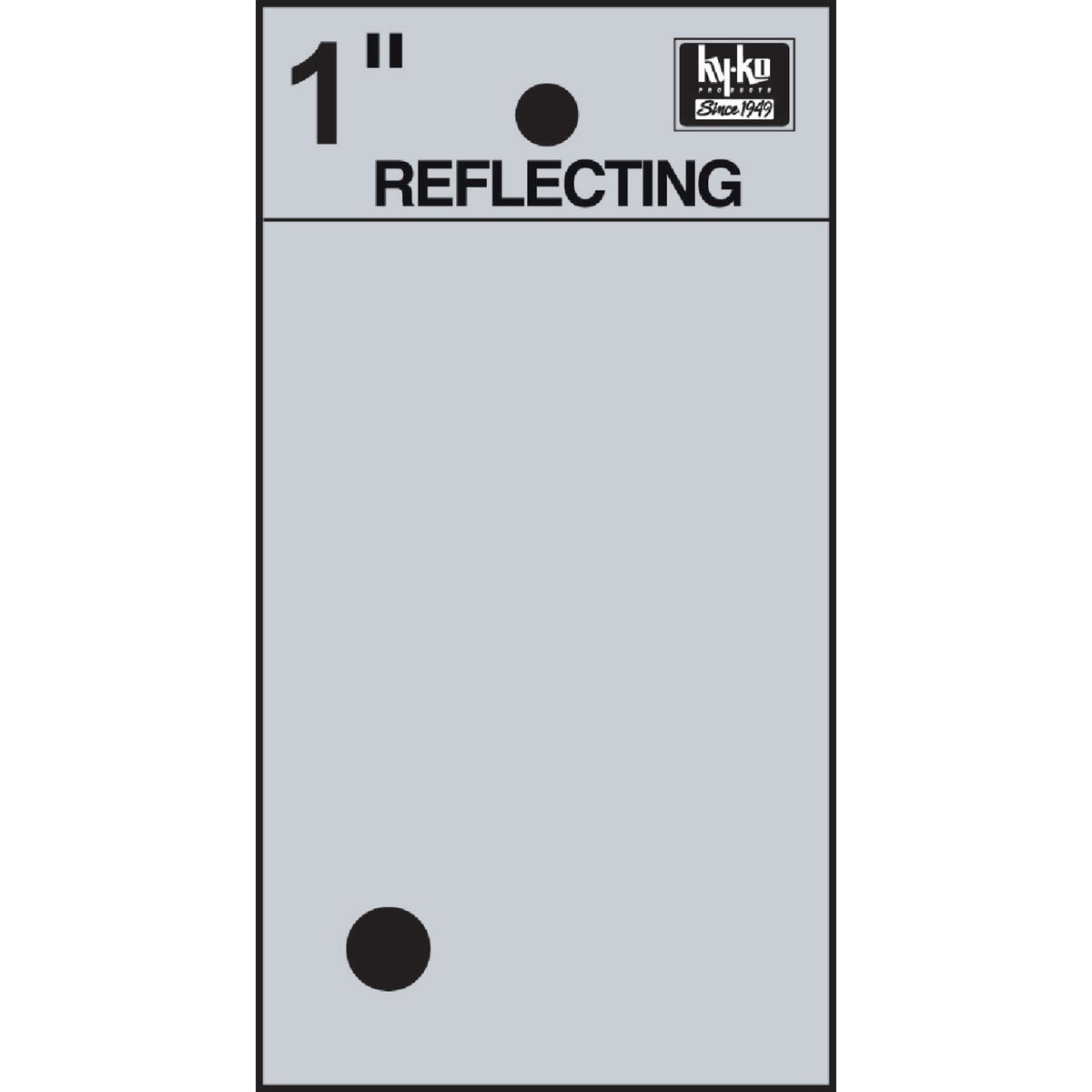 "1"" REFLECT PERIOD - RV15-PERIOD by Hy Ko Prods Co"