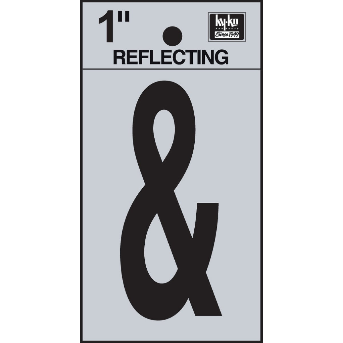 "1"" REFLECT AMPERSAND - RV15-AMPERSAND by Hy Ko Prods Co"