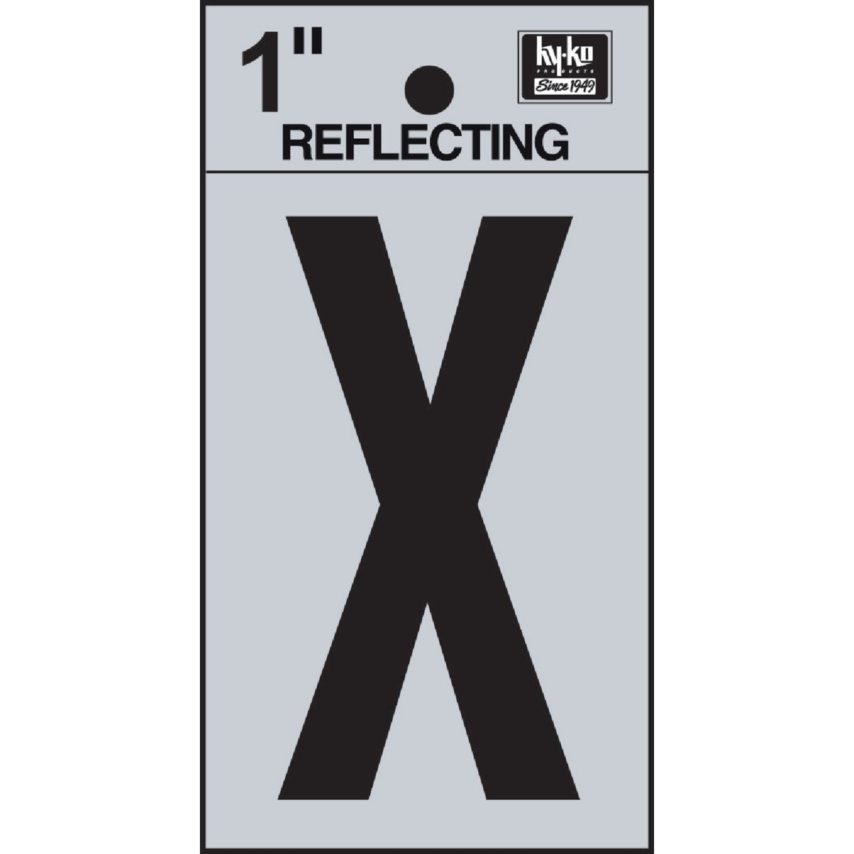 "1"" REFLECT LETTER X - RV15-X by Hy Ko Prods Co"