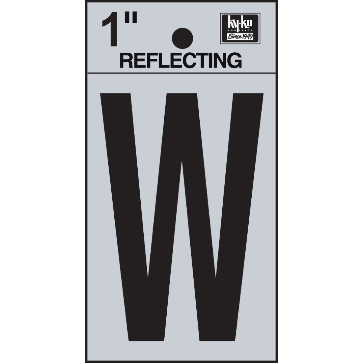 "1"" REFLECT LETTER W - RV15-W by Hy Ko Prods Co"