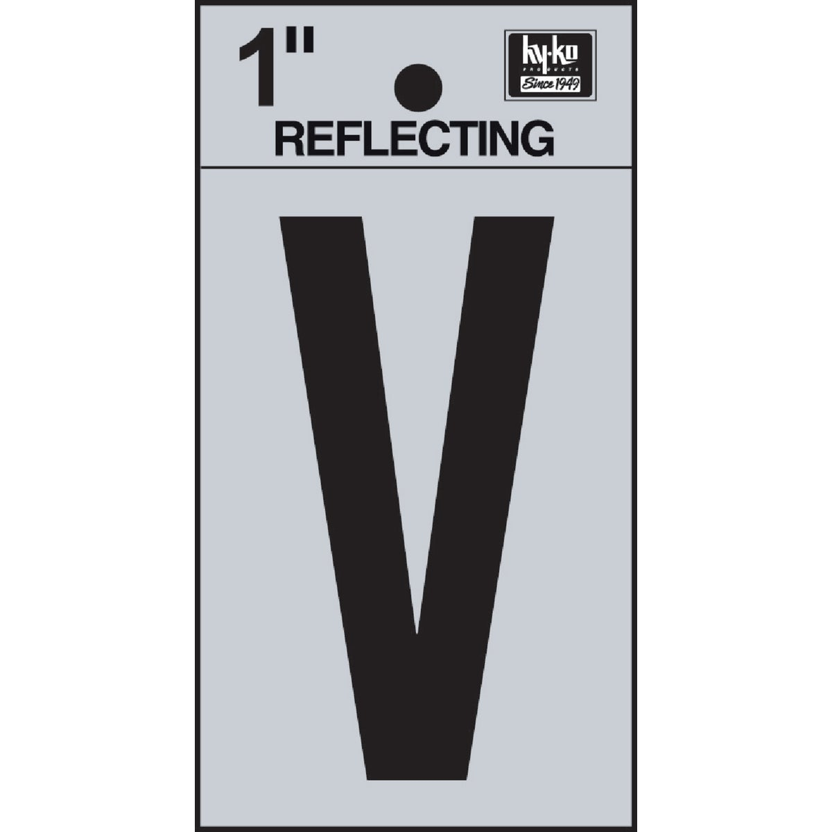 "1"" REFLECT LETTER V - RV15-V by Hy Ko Prods Co"