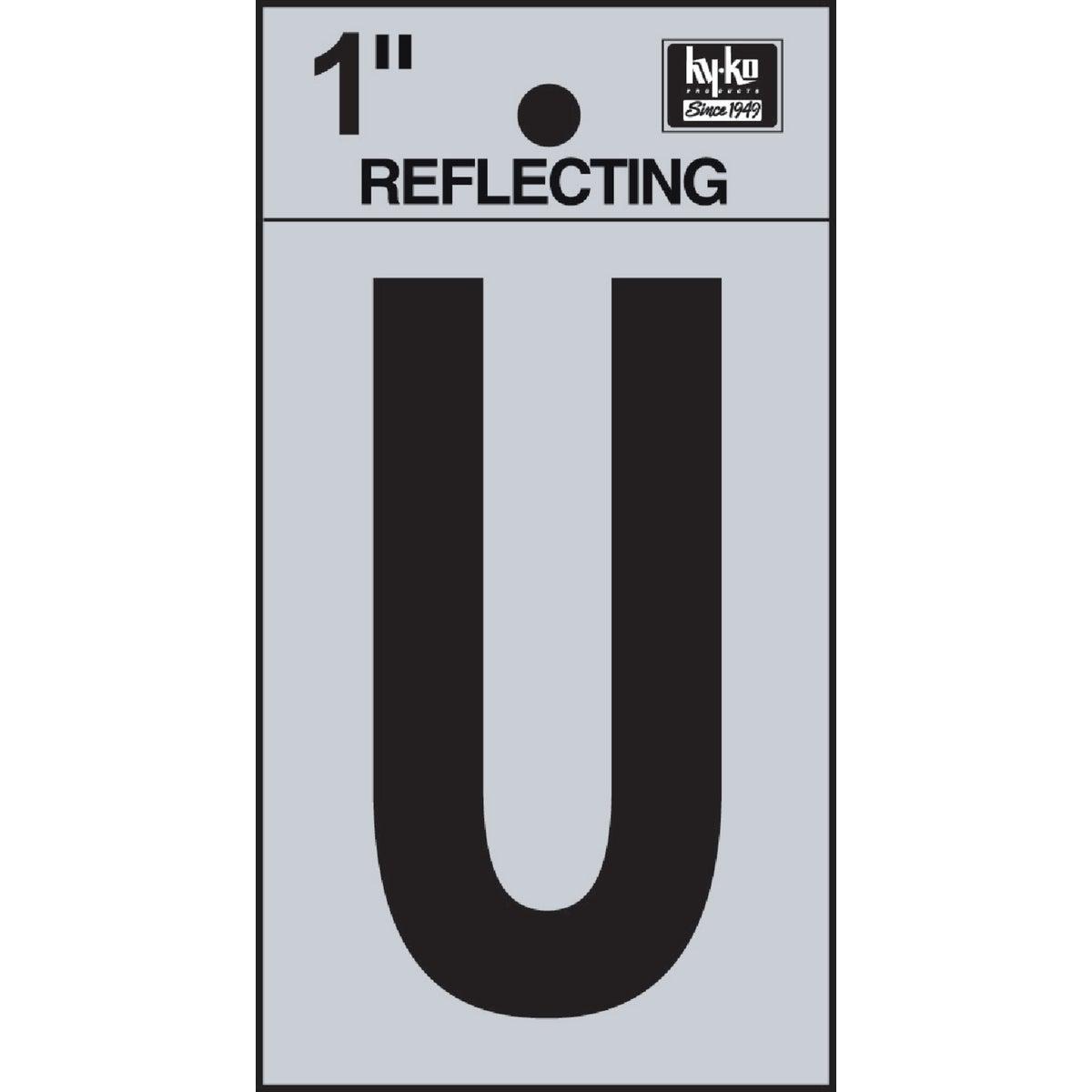 """1"""" REFLECT LETTER U"""