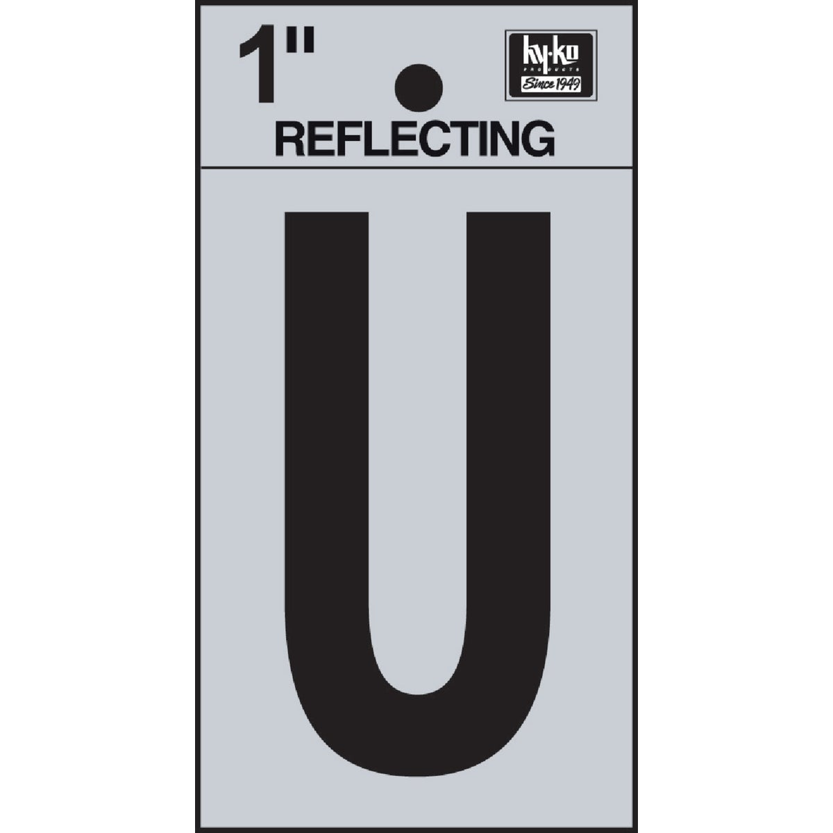 "1"" REFLECT LETTER U - RV15-U by Hy Ko Prods Co"
