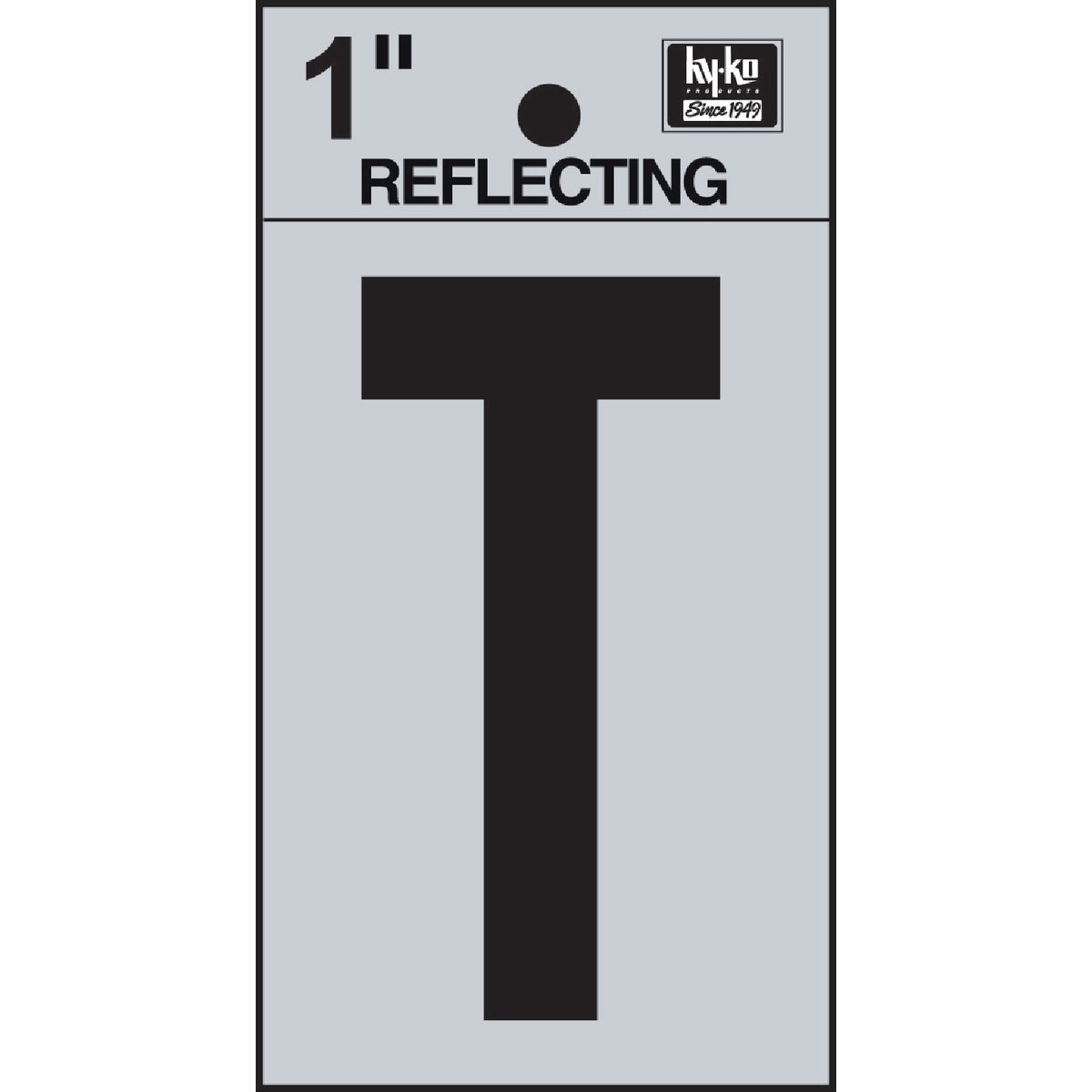 "1"" REFLECT LETTER T - RV15-T by Hy Ko Prods Co"