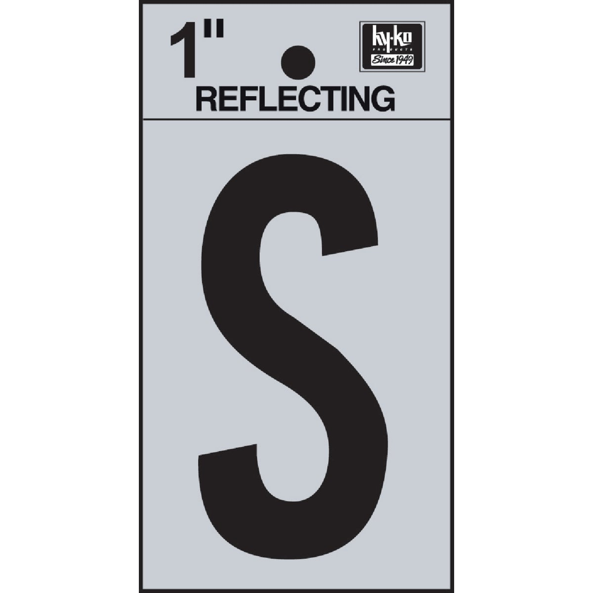 "1"" REFLECT LETTER S - RV15-S by Hy Ko Prods Co"