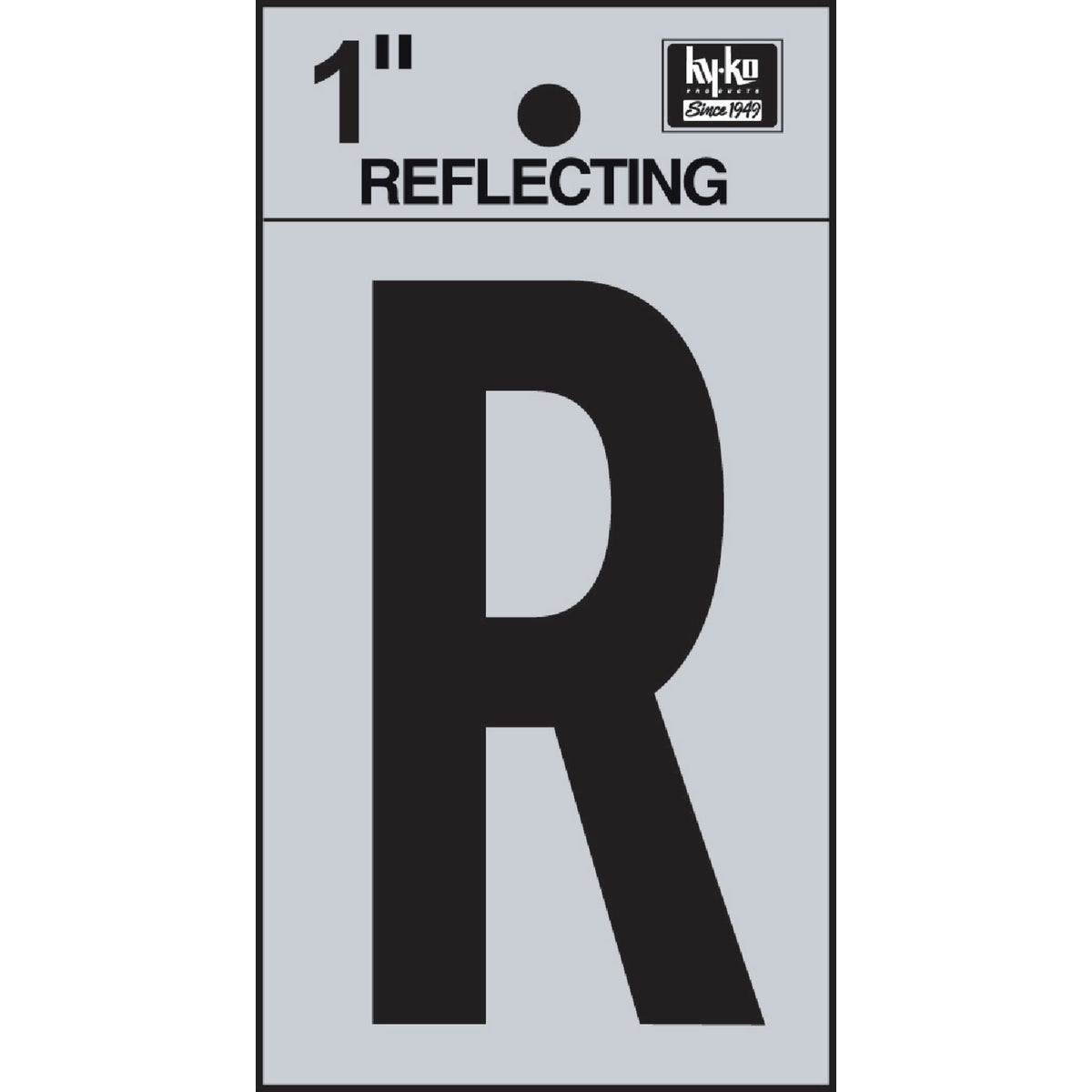 "1"" REFLECT LETTER R - RV15-R by Hy Ko Prods Co"
