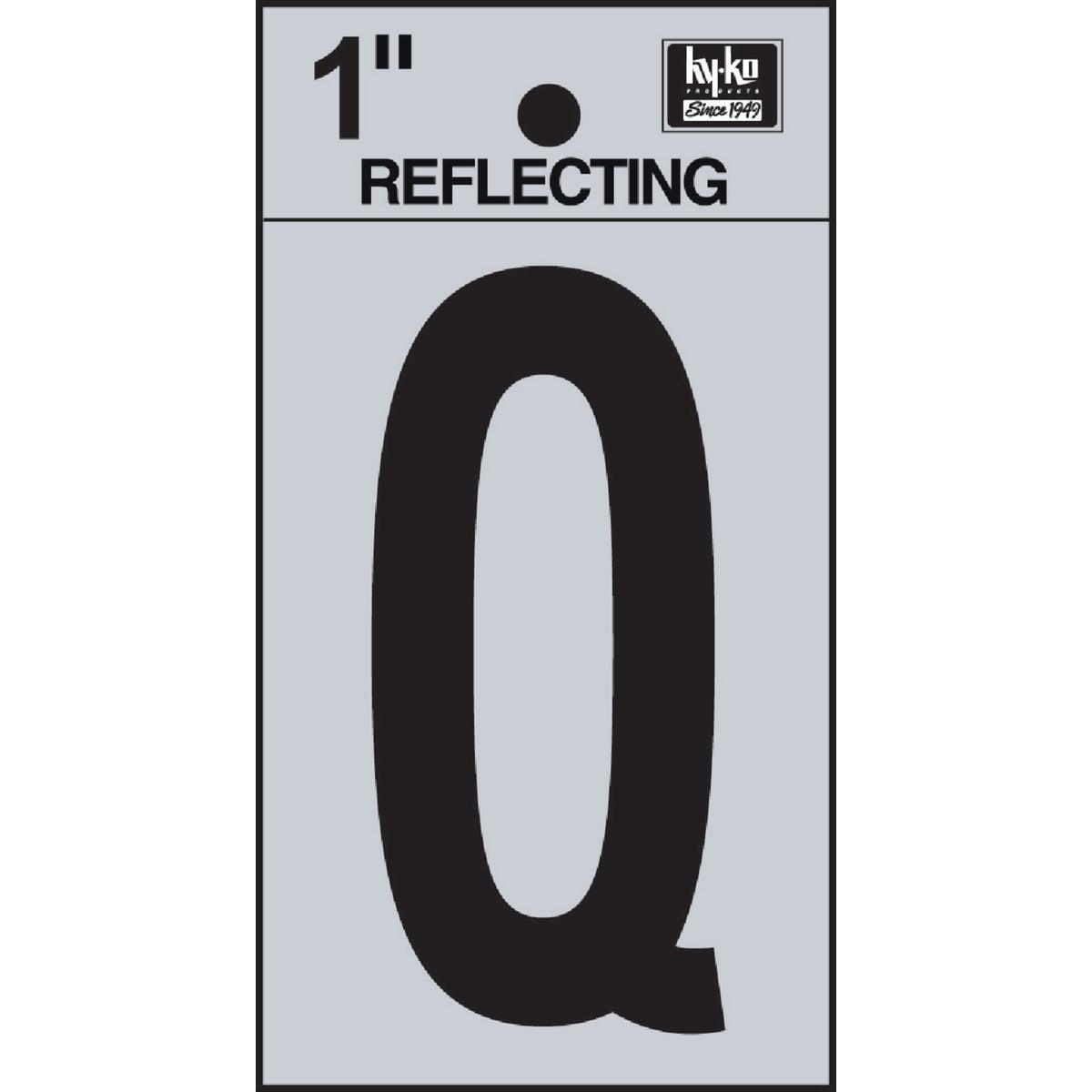 "1"" REFLECT LETTER Q"