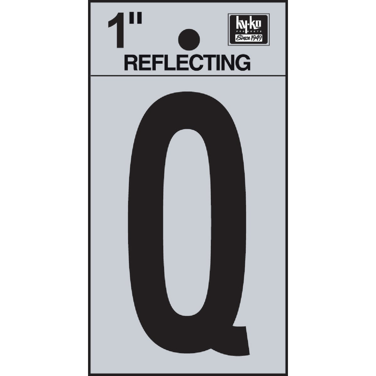 "1"" REFLECT LETTER Q - RV15-Q by Hy Ko Prods Co"