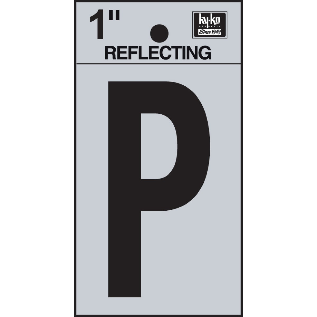 "1"" REFLECT LETTER P"