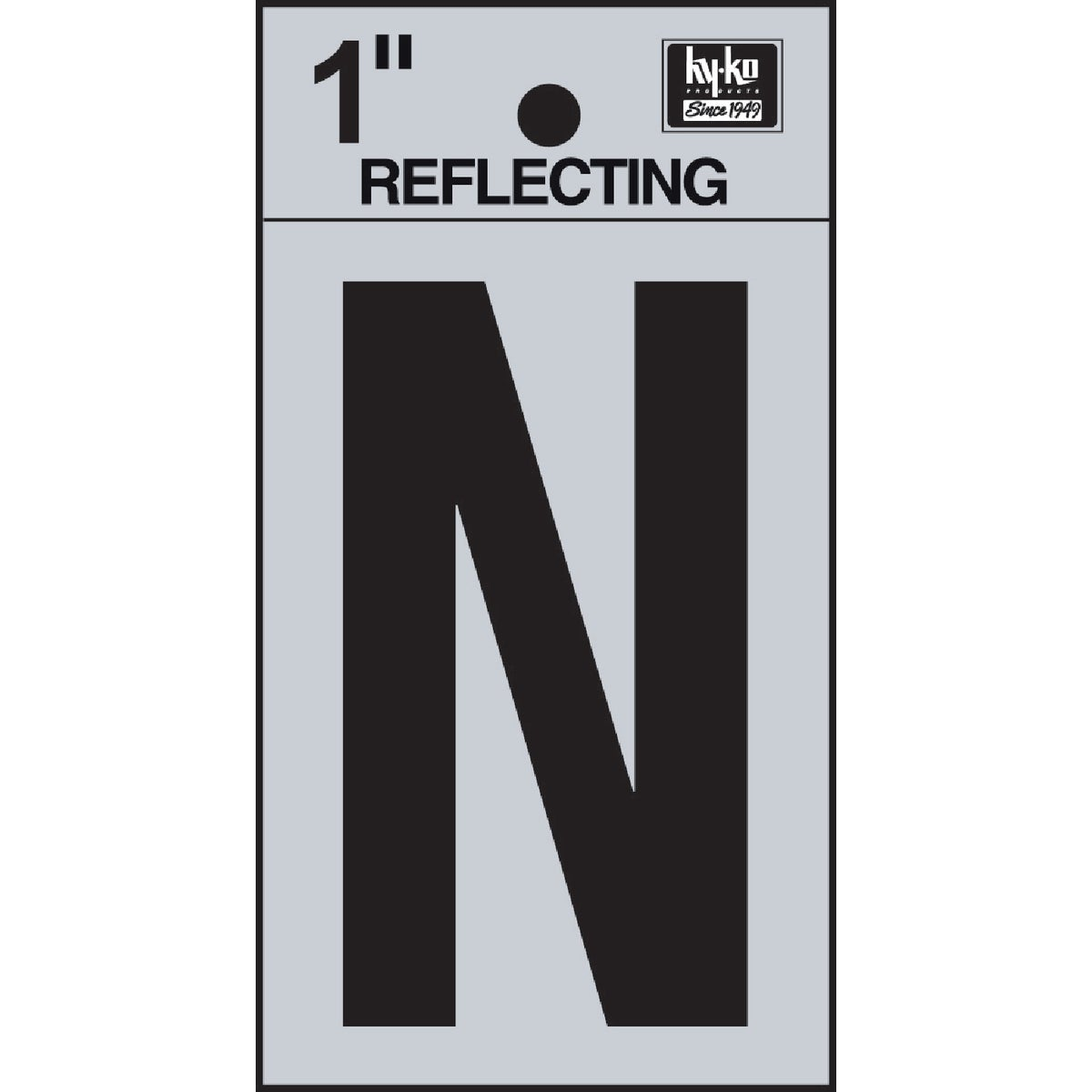 "1"" REFLECT LETTER N - RV15-N by Hy Ko Prods Co"