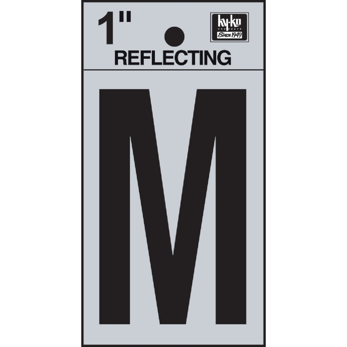 "1"" REFLECT LETTER M"