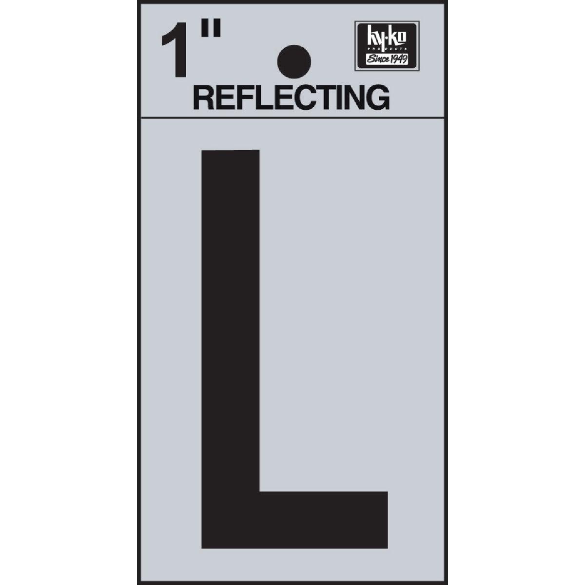 "1"" REFLECT LETTER L"