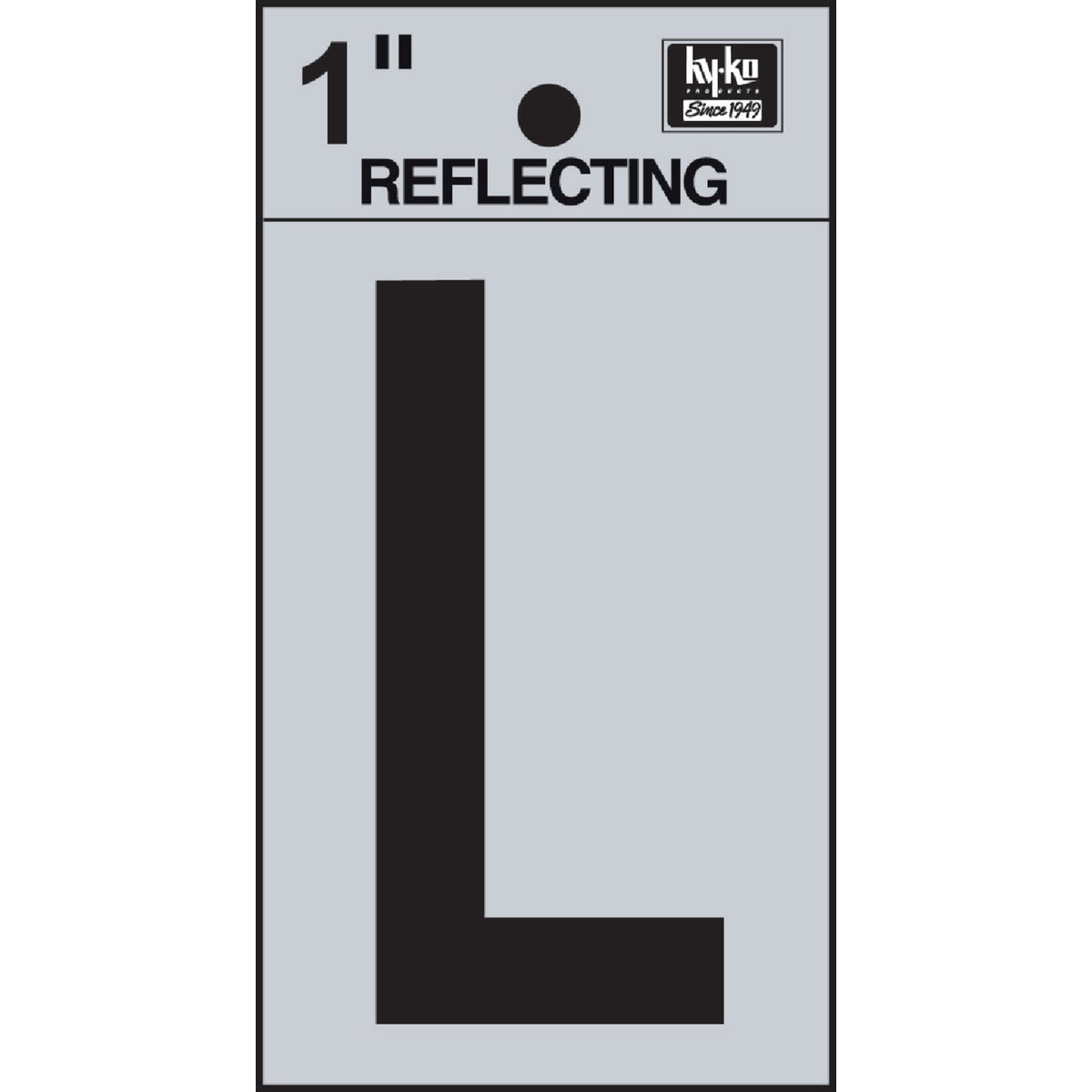 "1"" REFLECT LETTER L - RV15-L by Hy Ko Prods Co"