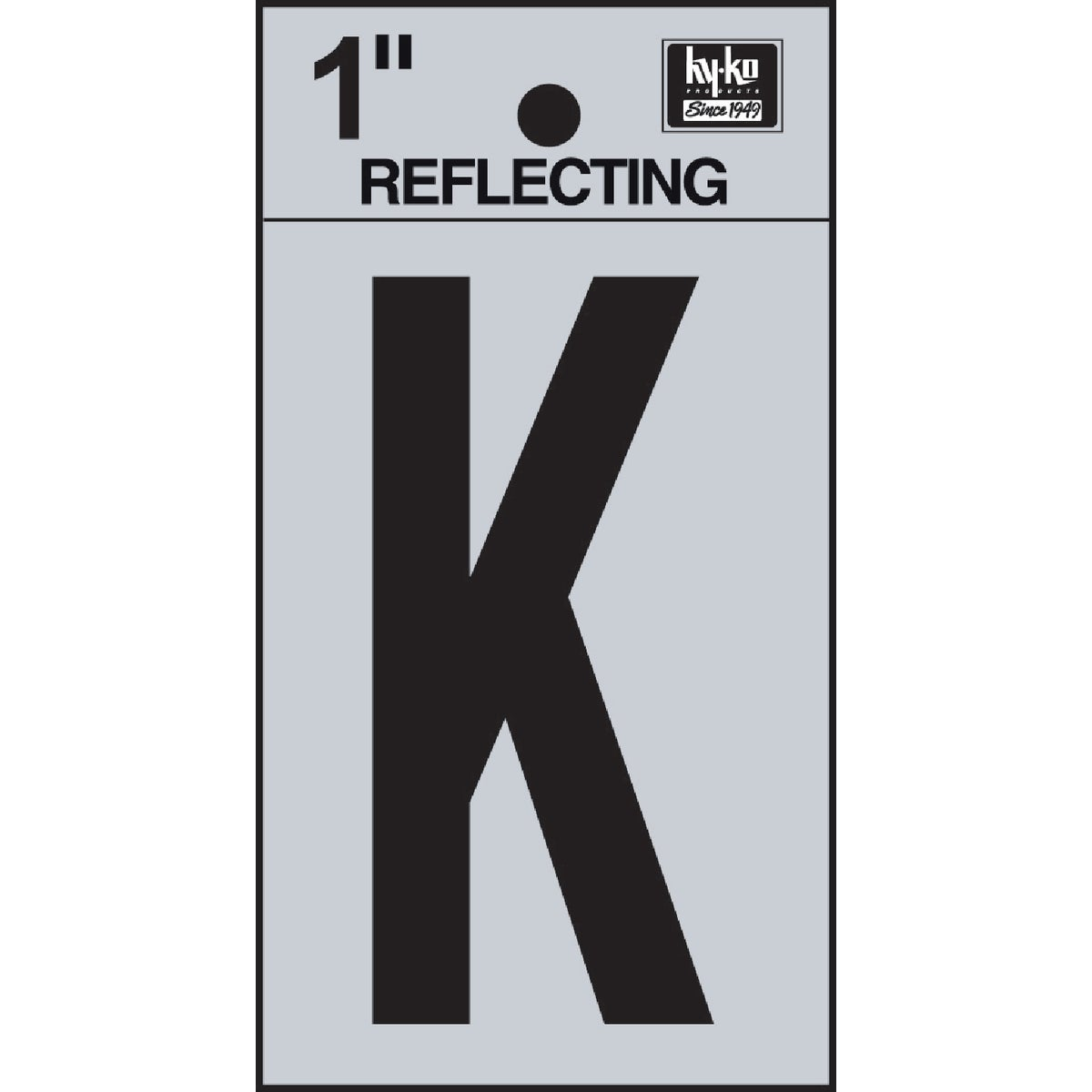 "1"" REFLECT LETTER K - RV15-K by Hy Ko Prods Co"