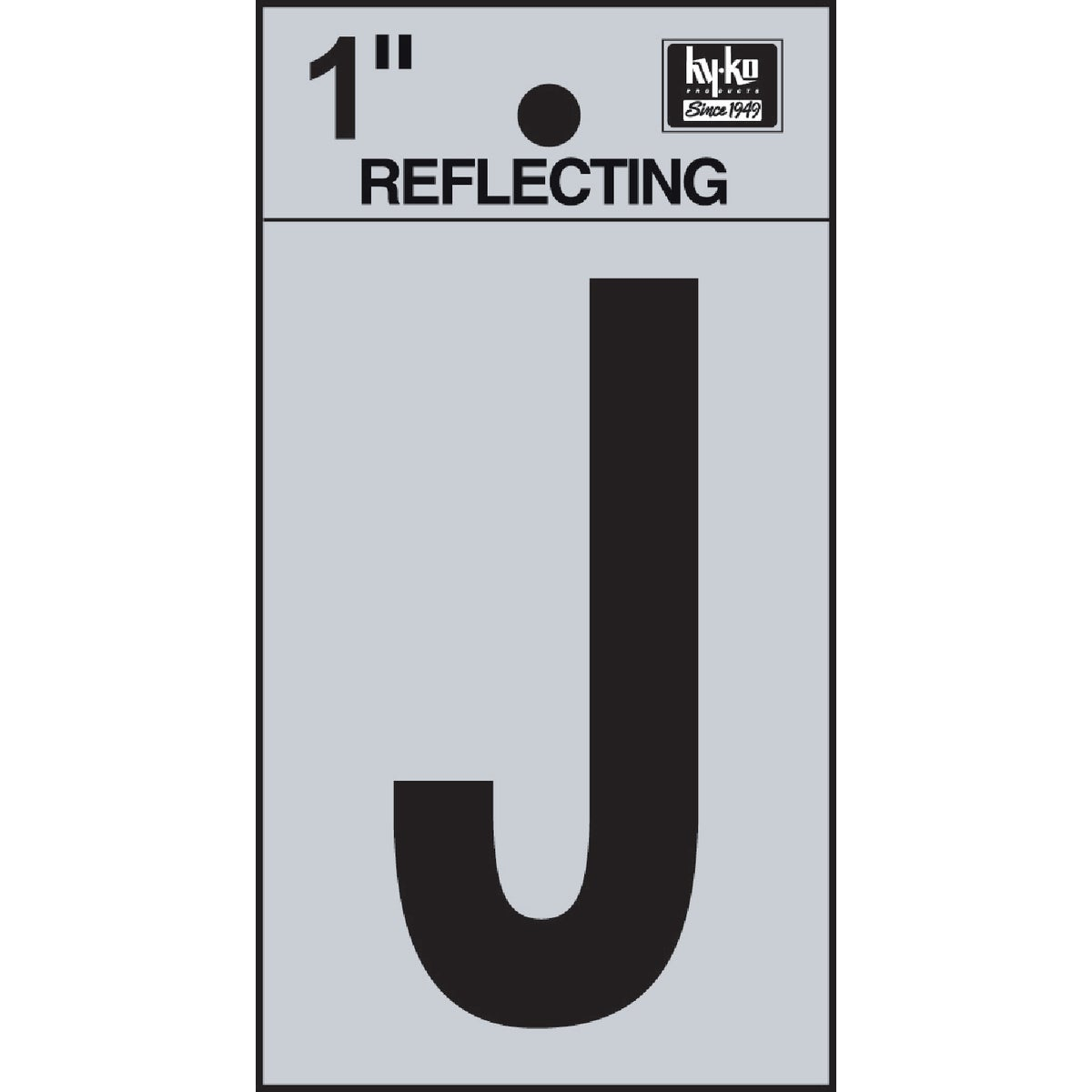 "1"" REFLECT LETTER J - RV15-J by Hy Ko Prods Co"
