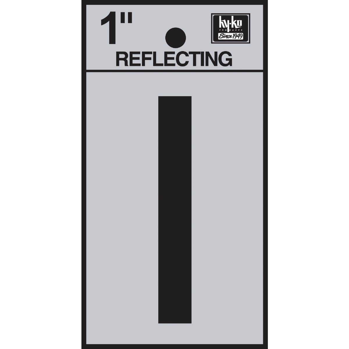 "1"" REFLECT LETTER I - RV15-I by Hy Ko Prods Co"