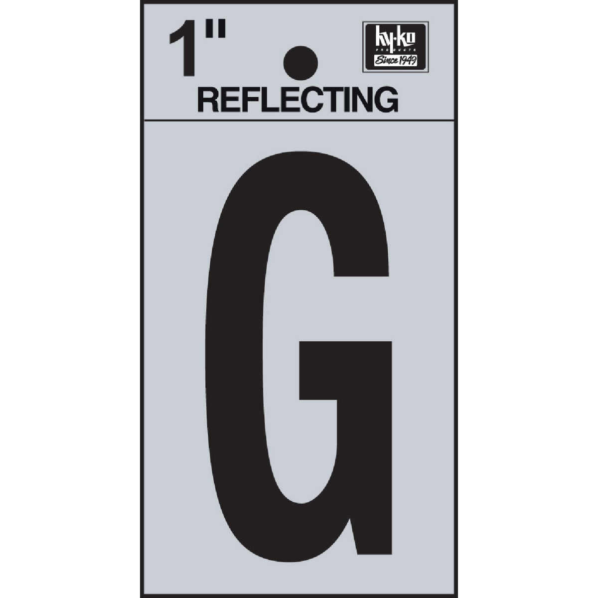 "1"" REFLECT LETTER G - RV15-G by Hy Ko Prods Co"