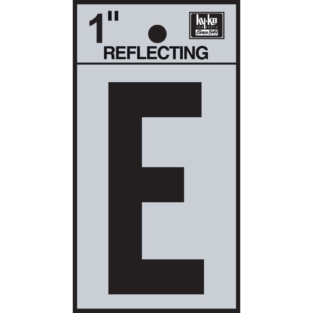 "1"" REFLECT LETTER E - RV15-E by Hy Ko Prods Co"