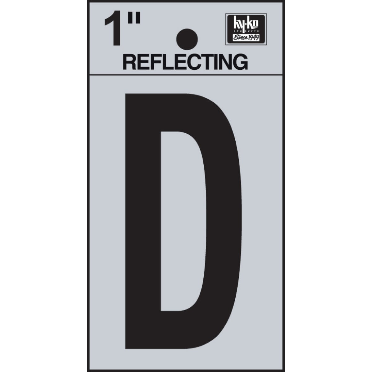 "1"" REFLECT LETTER D - RV15-D by Hy Ko Prods Co"