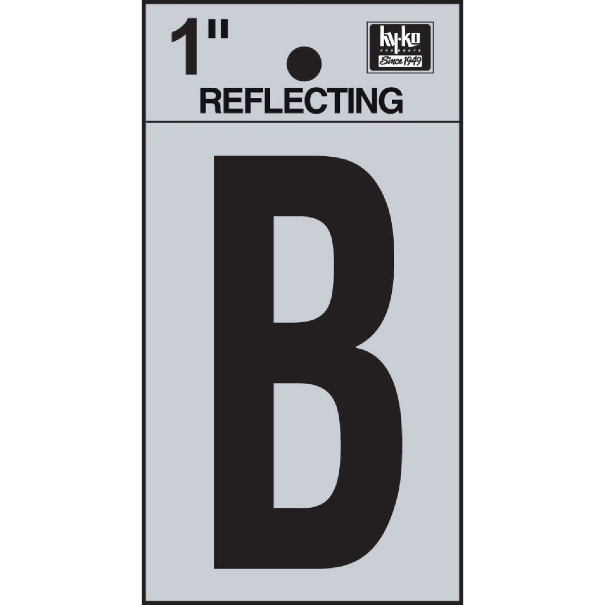 "1"" REFLECT LETTER B - RV15-B by Hy Ko Prods Co"