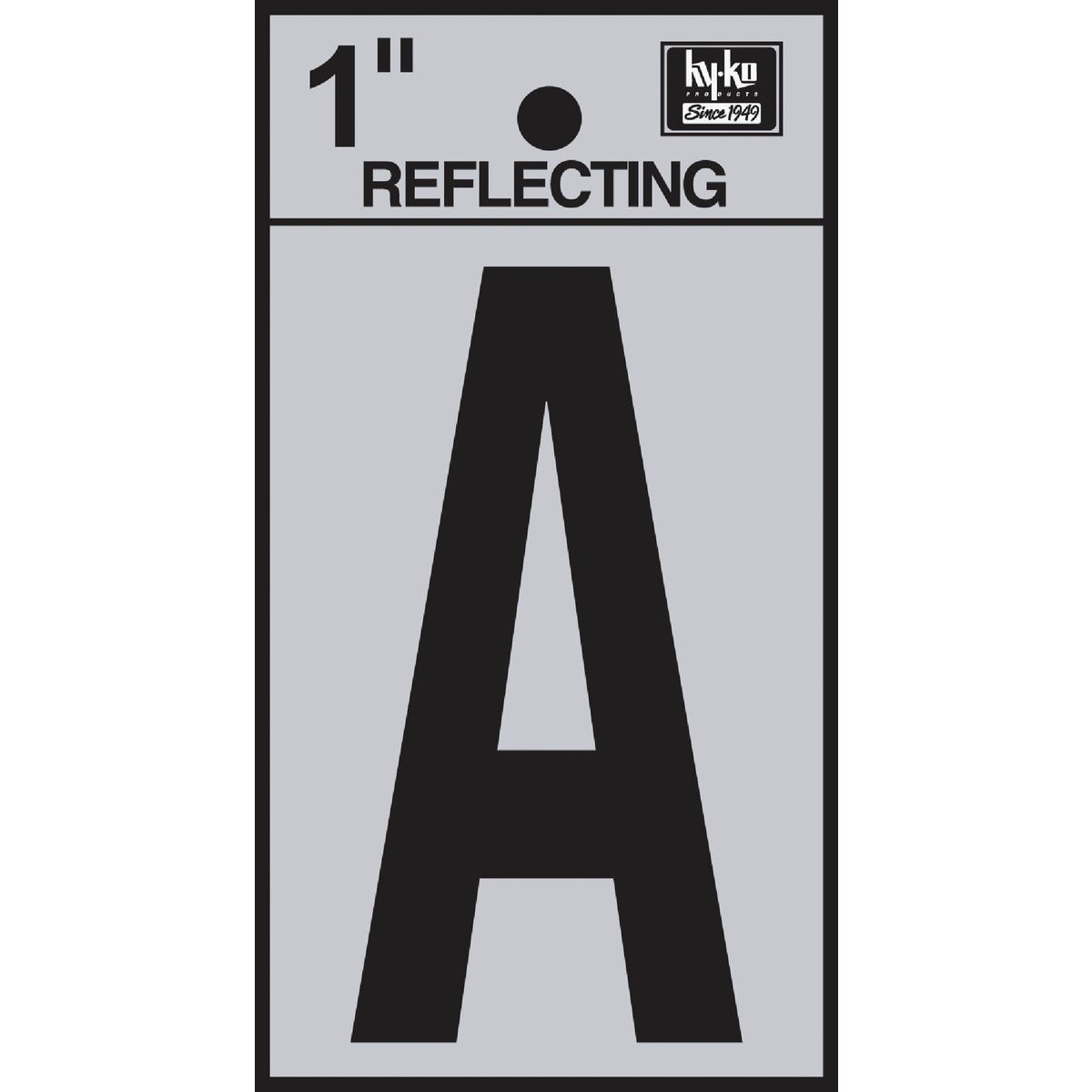 "1"" REFLECT LETTER A - RV15-A by Hy Ko Prods Co"