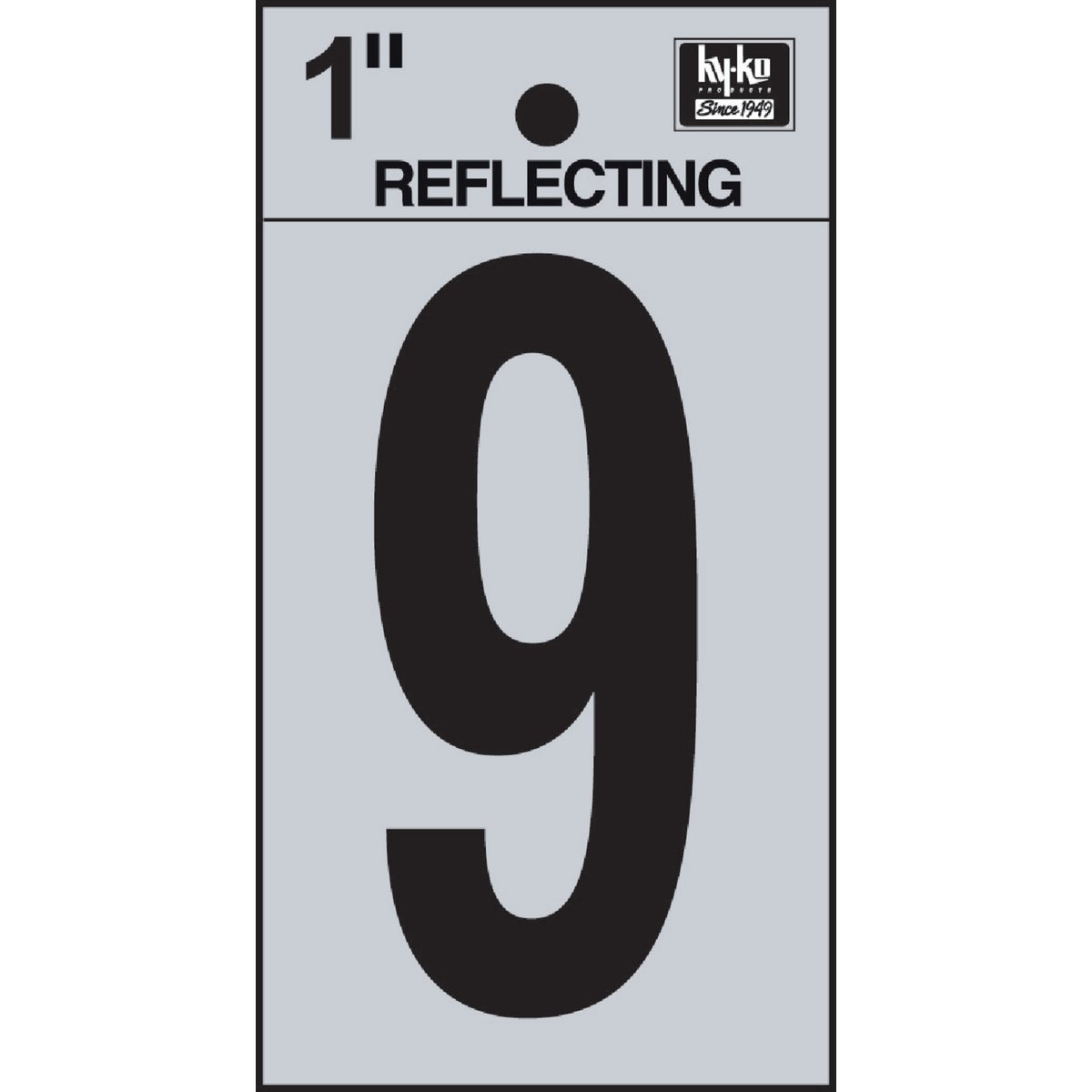 "1"" REFLECT NUMBER 9 - RV15-9 by Hy Ko Prods Co"