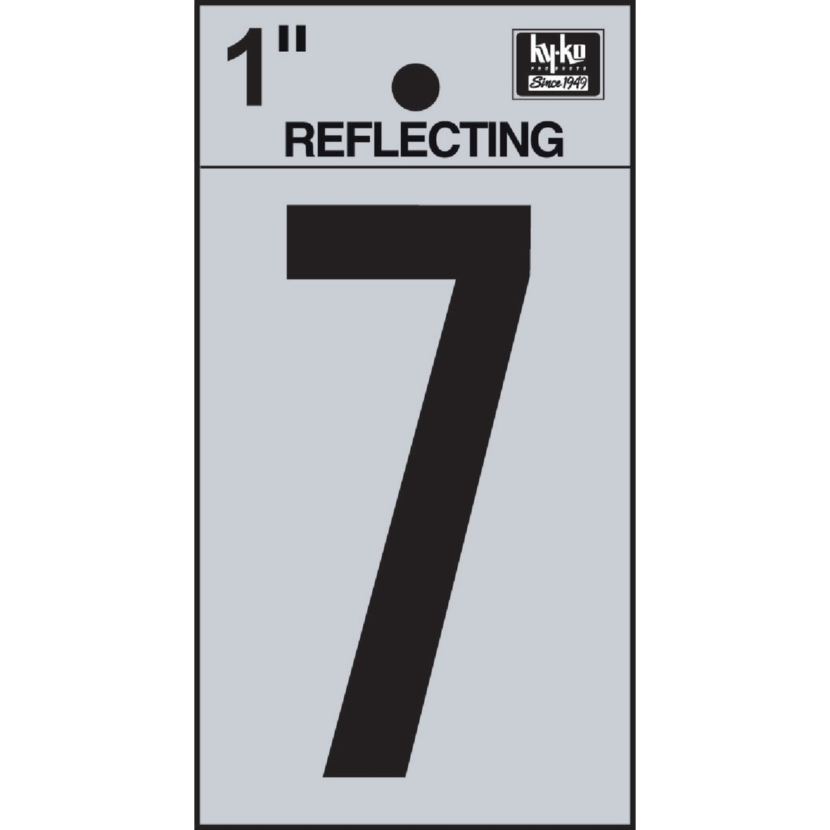 "1"" REFLECT NUMBER 7 - RV15-7 by Hy Ko Prods Co"