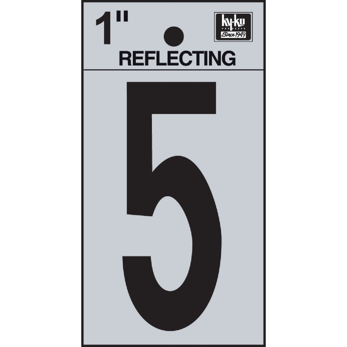 "1"" REFLECT NUMBER 5 - RV15-5 by Hy Ko Prods Co"