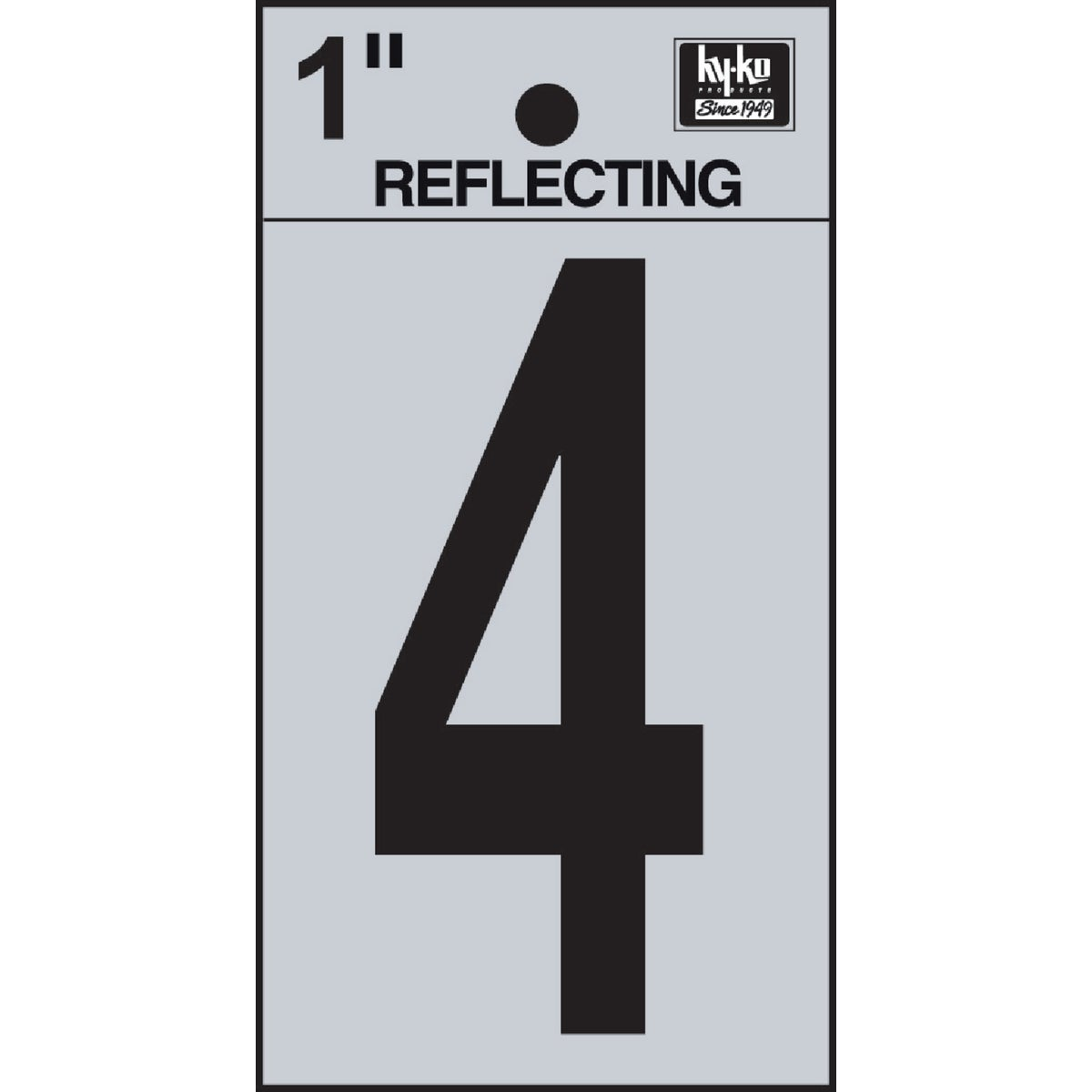 "1"" REFLECT NUMBER 4 - RV15-4 by Hy Ko Prods Co"