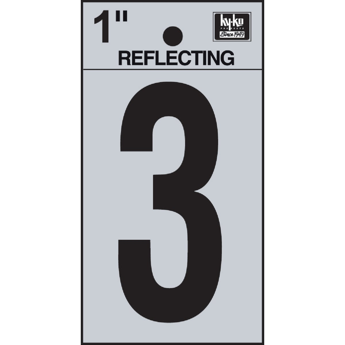 "1"" REFLECT NUMBER 3 - RV15-3 by Hy Ko Prods Co"