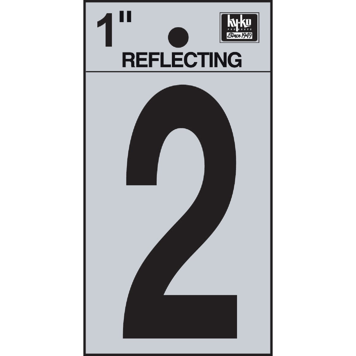 "1"" REFLECT NUMBER 2 - RV15-2 by Hy Ko Prods Co"