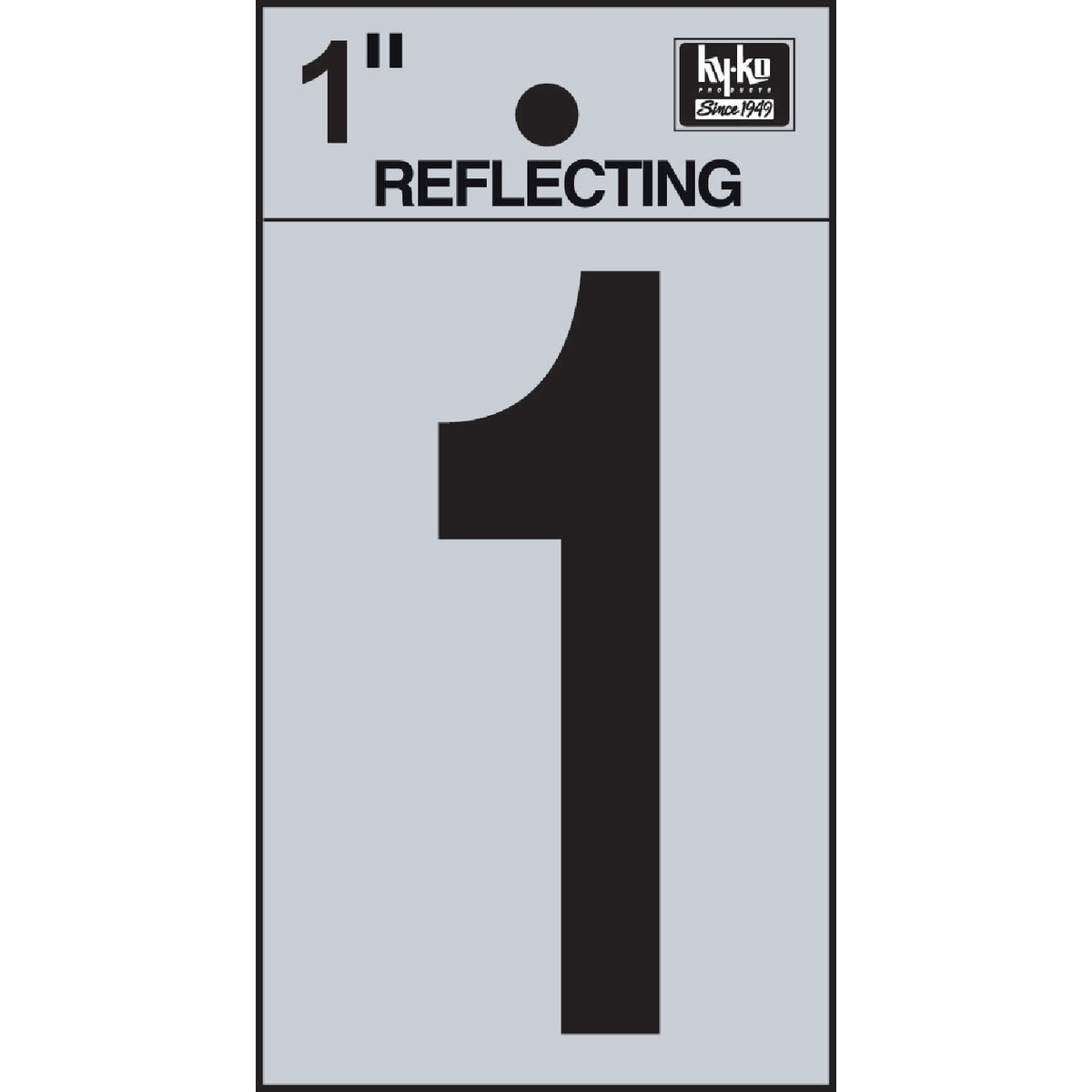 "1"" REFLECT NUMBER 1 - RV15-1 by Hy Ko Prods Co"