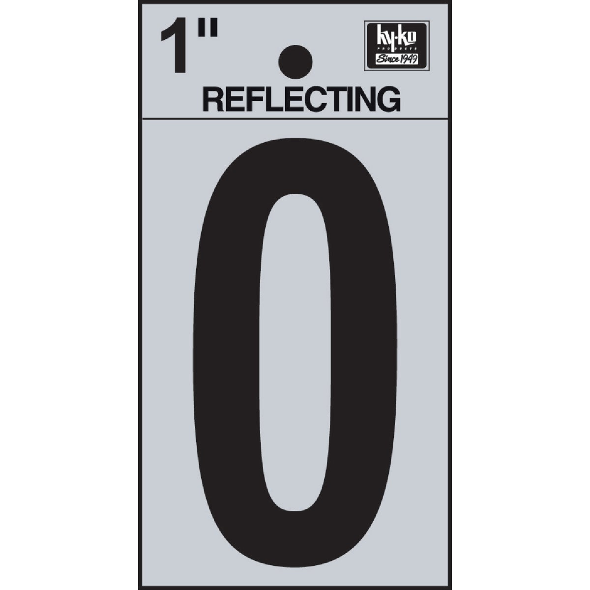 "1"" REFLECT NUMBER 0 - RV15-0 by Hy Ko Prods Co"