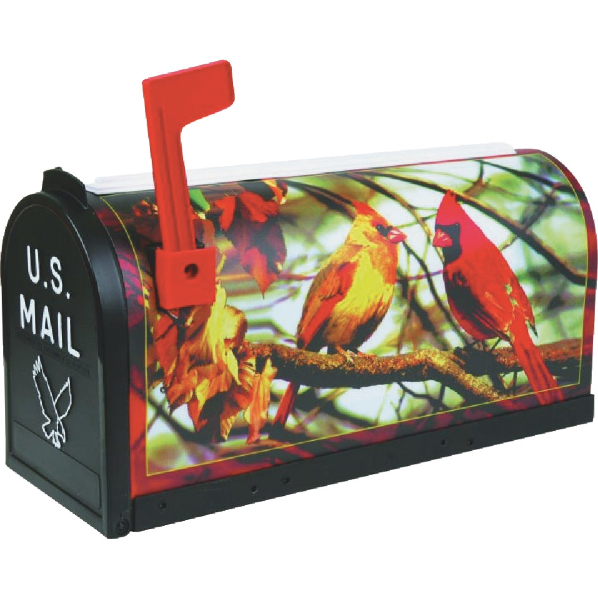 Flambeau T2 Cardinal Decorative Post Mount Mailbox