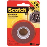 3M Scotch Heavy-Duty Interior Exterior Mounting Tape, 411DC-SF