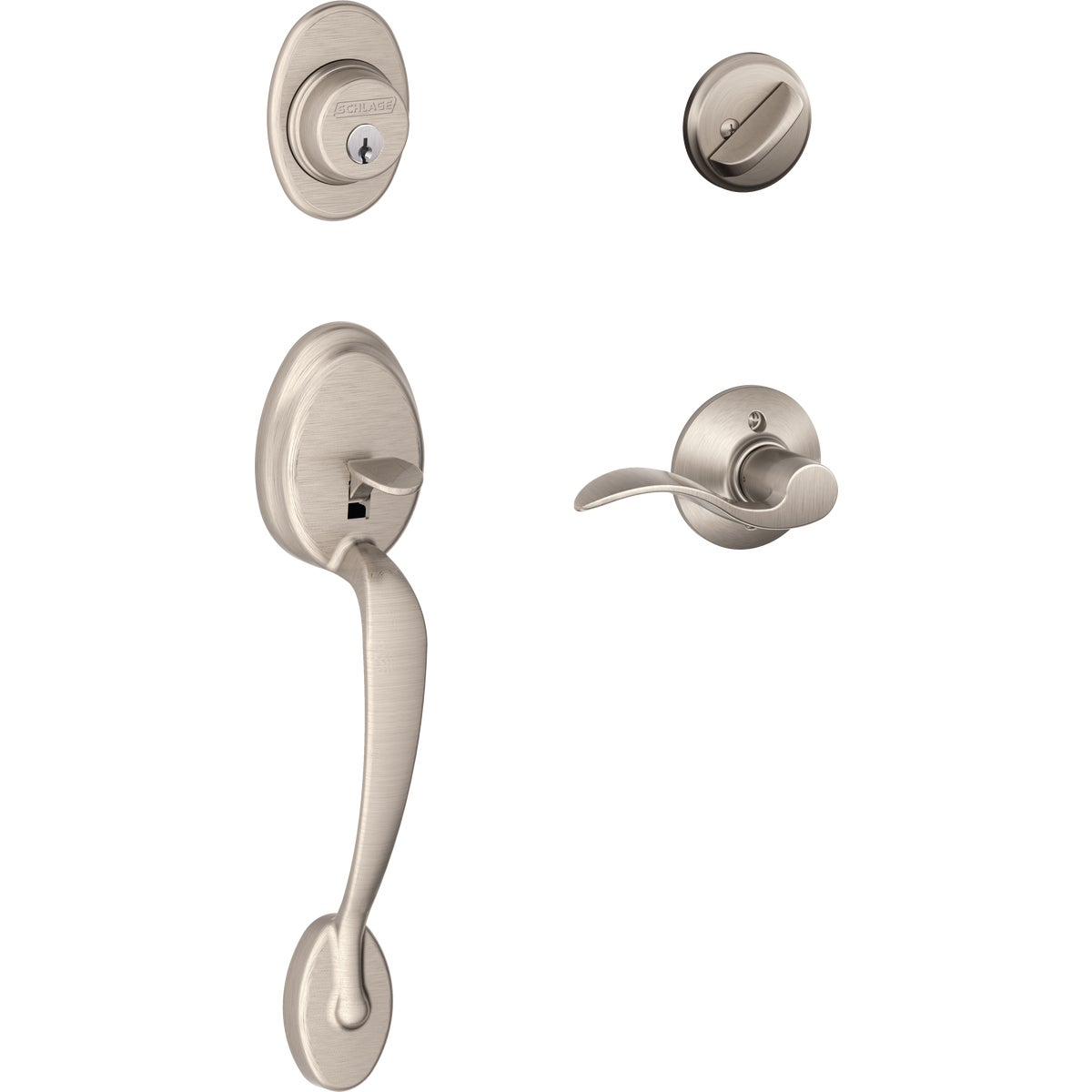 SN PLYMOUTH HANDLESET - F60VPLYXACC619 by Schlage Lock Co