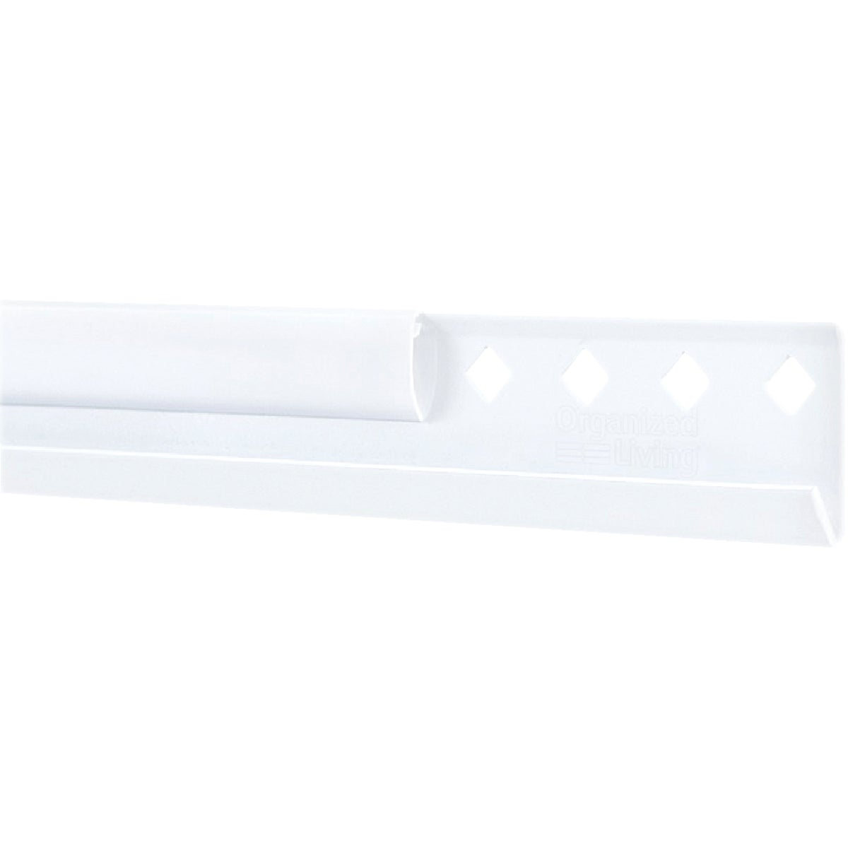 "WHITE 24"" HANGING RAIL - 7913442411 by Schulte Corp"