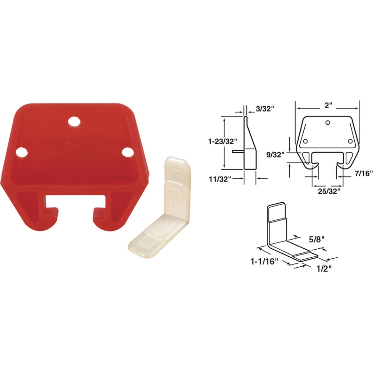 "13/16"" NYLON TRACK GUIDE - 22486 by Prime Line Products"